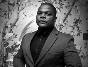 Sean Kelly congratulates Kehinde Wiley on receiving an honorary Ph.D.