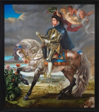 Kehinde Wiley in Michael Jackson: On the Wall