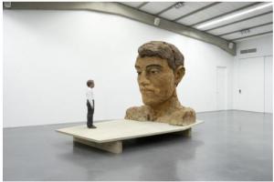 Stephan Balkenhol's exhibition at Cultuurcentrum Scharpoord