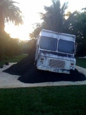 Pope.L's Black Factory at ABMB