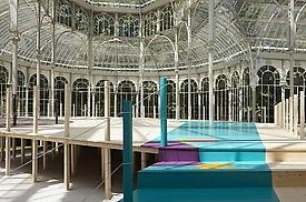 Jessica Stockholder solo exhibition at Palacio de Cristal