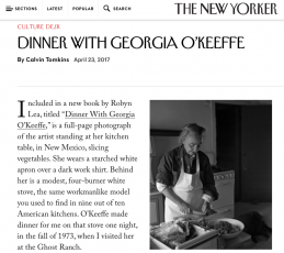One of Todd's O'Keeffe images featured in the New Yorker