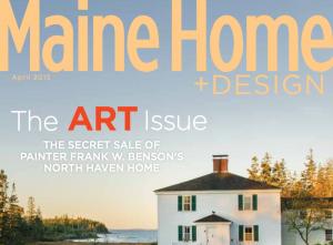 Maine Home + Design Art issue