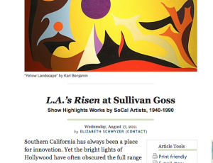 L.A.'s Risen at Sullivan Goss