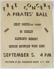 Hells Angels and Jerry Garcia at The Pirates Ball, 1973