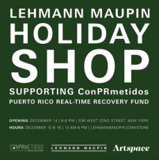 Holiday Pop-Up Shop Supporting Puerto Rico