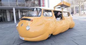 An art bus will be serving free hot dogs all summer long at Brooklyn Bridge Park