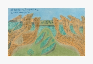 Painting by Joseph Elmer Yoakum titled Mt Horseback in Rockey Knob Range near Chillicothe Ohio from 1969