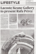 Concord Journal features Rafa Pérez: Momentos de Tierra