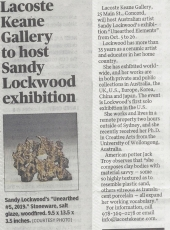Concord Journal features Sandy Lockwood: Unearthed Elements