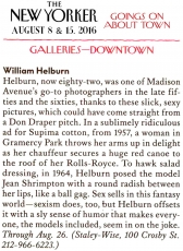 "The New Yorker: ""William Helburn: Ad Man"" In The New Yorker"