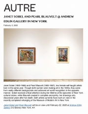 Janet Sobel and Pearl Blauvelt @ Andrew Edlin Gallery