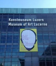 Albrecht Schnider's work on the facade of the Museum of Art Lucerne