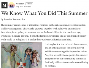 Curate.LA - We Know What You Did This Summer
