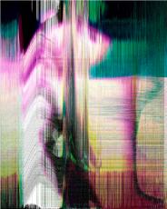 An abstract mixed color artwork