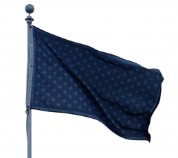 A black flag with black stars upon it
