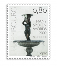 "Su-Mei Tse ""Many Spoken Words"", 2009 featured on SEPAC 2020 postage stamp"