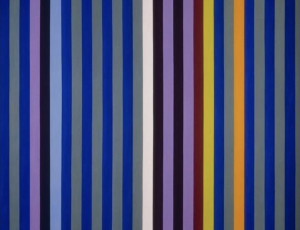 """Stars and stripes: """"Intervals,"""" paintings by Gene Davis, Kenneth Noland and Tim Bavington"""