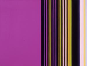 Colorful stripes to music, like a rock'n'roll EKG