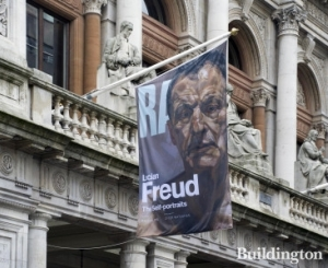 Lucian Freud The Self Portraits exhibition at Royal Academy of Arts. Photograph from Buddington