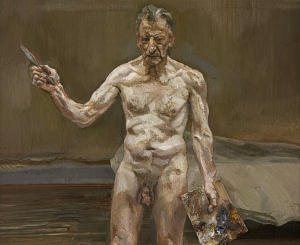 """Freud's """"Painter Working, Reflection,"""" 1993"""