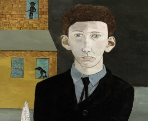 """Lucian Freud, """"Man with a Feather (Self-Portait),"""" 1943"""