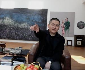 The artist Zeng Fanzhi in his studio in Beijing.