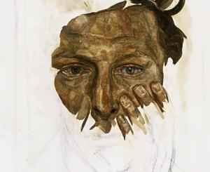"""Lucian Freud, """"Self Portrait,"""" 1956"""