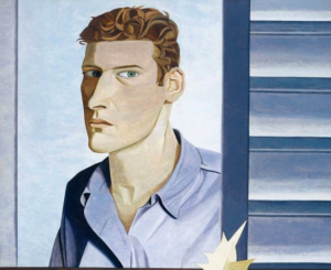 """Freud's """"Man with a thistle (Self Portrait),"""" 1946"""