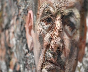 """A detail of the work """"Self Portrait Reflection (2002)"""" by British artist Lucien Freud at the preview of """"Lucien Freud - the Self Portraits at the Royal Academy of Arts"""" in London, Britain, 23 October, 2019."""