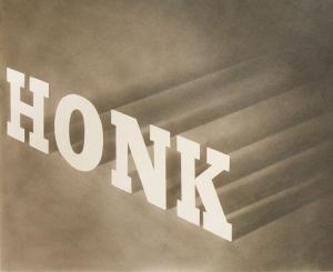 """Image of Ed Ruscha's """"Honk,"""" 1964"""