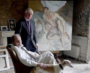 Bill Acquavella and Lucian Freud