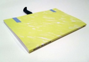 A photograph of the book's yellow exterior, laying flat with the title visible on the spine