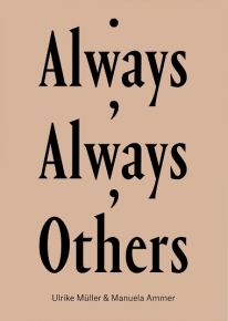 """The cover of """"Always, Always, Others,"""" with the text in black upon a beige background"""