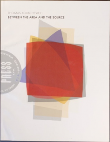 An image of the book cover with several shapes centrally located, and the title at the top-left