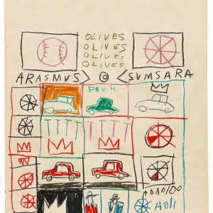 Jean-Michel Basquiat, Untitled (Grid), 1981
