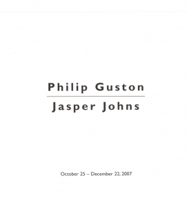 Philip Guston, Jasper Johns