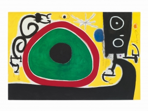 Joan Miró Birds' Joy at Day's Birth, 21 March 1968
