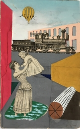 Early Collages with gouache (1941 - 1947)
