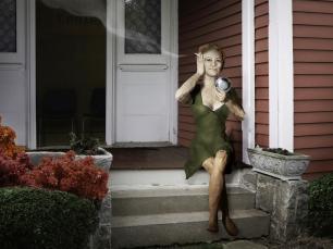 Woman smoking by Suellen Parker