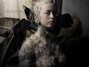 Woman in feathers by Bear Kirkpatrick