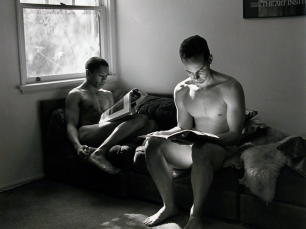 Two men reading by Robert Giard