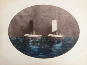 Toy boats by Dan Estabrook