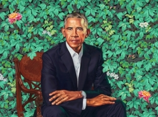 The Smithsonian's National Portrait Gallery Unveils Official Portrait of President Barack Obama by Kehinde Wiley