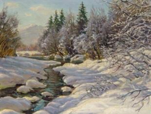 Snow Scene, circa 1930's