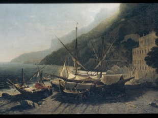 View at Amalfi, Bay of Salerno, 1857