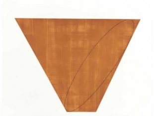 "Robert Mangold, born 1937,  III, from Attic Series I (I-V) 1990-1991, Aquatint and Etching on Somerset Satin paper, H 32"" x W 36"", Signed Lower Right in Pencil"