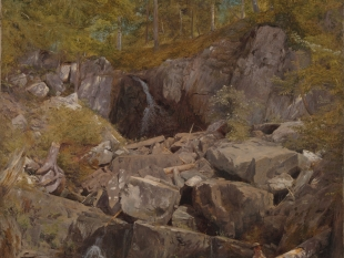 A Study of Trap Rock (Buttermilk Falls), 1863