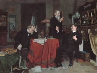 A Discussion, ca. 1890–95