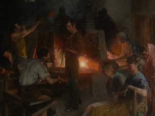 Glass Blowers of Murano, 1886